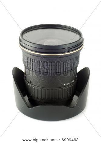 Wide angle lens & lens hood