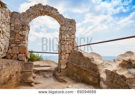 Ancient Arch In Fortress On Kaliakra Headland, Bulgarian Black Sea Coast
