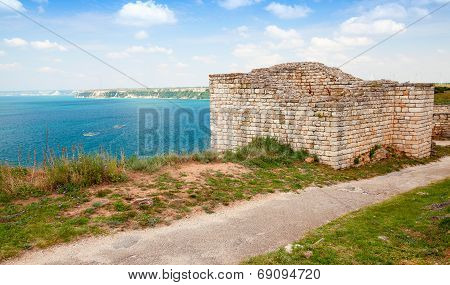 Bulgarian Black Sea Coast. Ancient Fortress On Kaliakra Headland