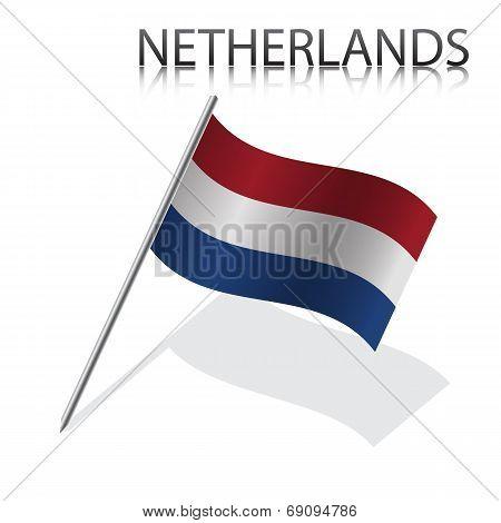 Realistic Netherlandish flag