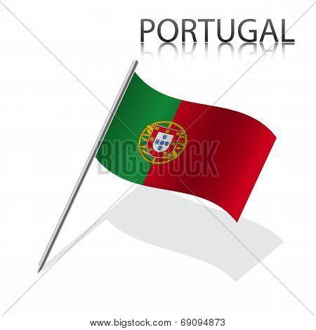 Realistic Portuguese flag