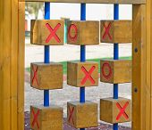 stock photo of tic  - tic tac toe game in a park - JPG
