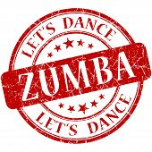 pic of zumba  - Zumba red vintage grungy isolated round stamp - JPG