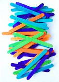 Colorful Popsicle Sticks poster