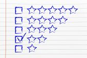 pic of performance evaluation  - star chart to evaluate a performance give feedback - JPG