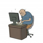 stock photo of troll  - this is an illustration of internet troll - JPG