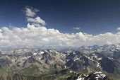 image of breathtaking  - breathtaking view of pyrenees from pic du midi in france - JPG