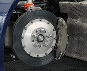 picture of friction  - The Front Wheel Brake of a Fast Saloon Car - JPG