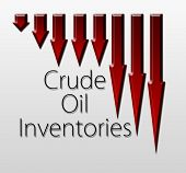 image of macroeconomics  - Graph illustration showing Crude Oil Inventories decline - JPG