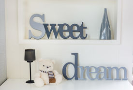 picture of sweet dreams  - Home interior decoration sweet dream with Teddy bear - JPG