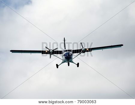Turboprop Airplane Landing