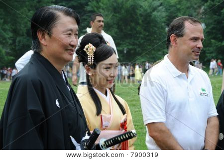 New York City Parks Commissioner And Japanese Celebrities