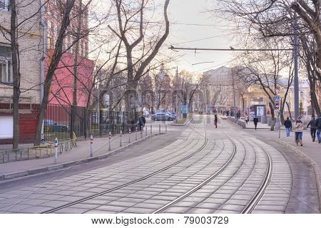 City Moscow. Sadovnichesky Passage