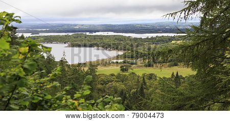 View Middle Lake from the top of Torc Mountain.