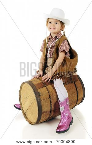 An adorable preschool cowgirl