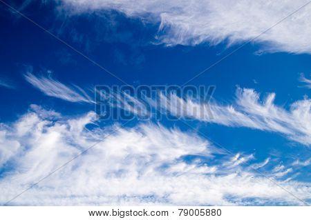 Clouds Sailing Through The Blue Sky