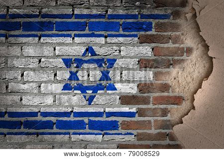 Dark Brick Wall With Plaster - Israel