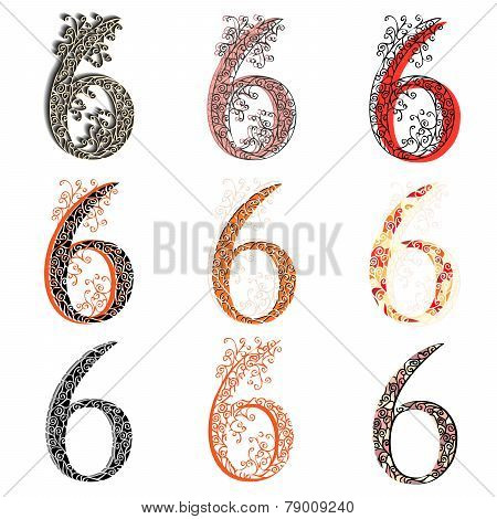 Various Combination Numeric Figures 6.