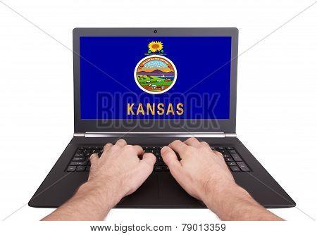 Hands Working On Laptop, Kansas