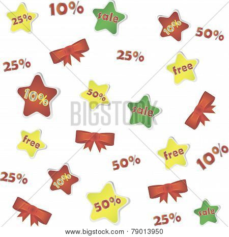 Sale poster with percent discount, background
