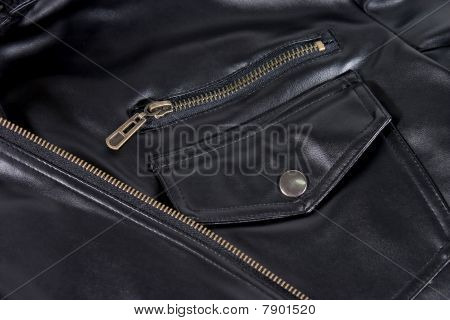 Pocket Of Leather Jacket