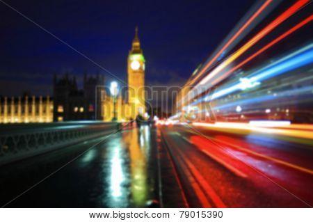 Defocus Light Of Big Ben