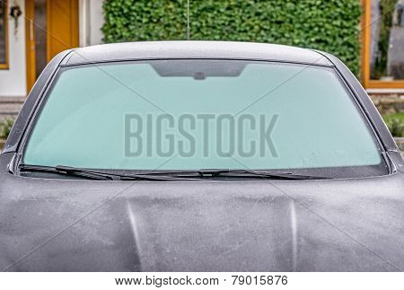 A frozen car windscreen