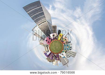 Brisbane City small Planet