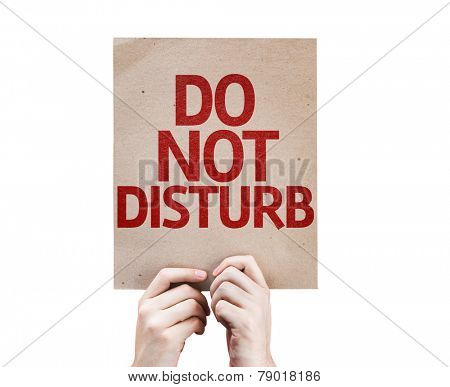 Do Not Disturb card isolated on white background