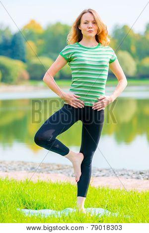 Gymnast Balancing On One Leg The Fresh Air