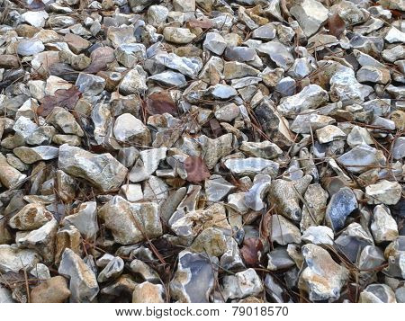 Flint Stones Abstract Background