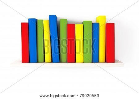 Book Shelf With Multicolour Books