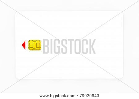 White Phone Card With Chip