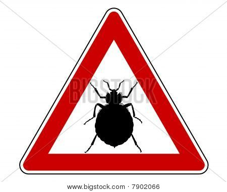 Bedbug Warning Sign