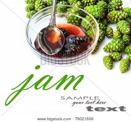 Jam From Cones In A White Plate