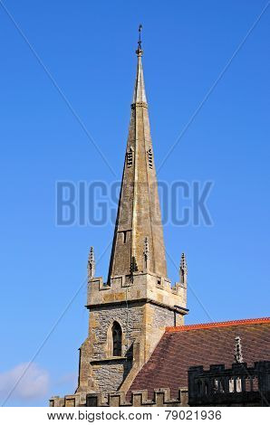 All Saints church spire, Evesham.