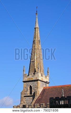 All Saints church spire, Evesham.