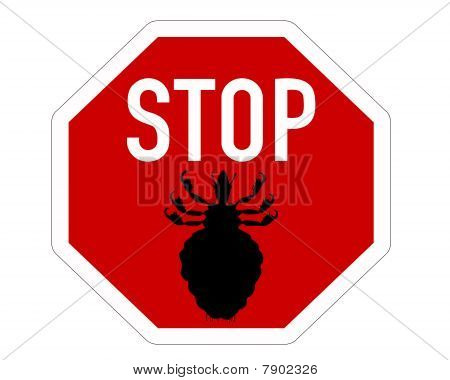 Stop Sign For Lice