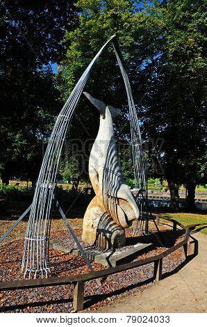 Bow Head Whale sculpture, Evesham.