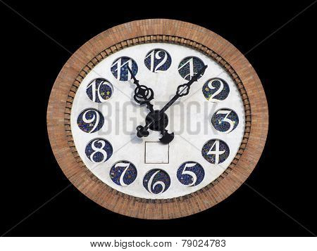 Clock On Tower Isolated