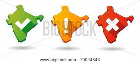 India Map Survey  Icon Set