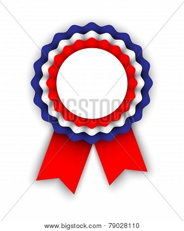Rosette In Colors Of The Tricolor