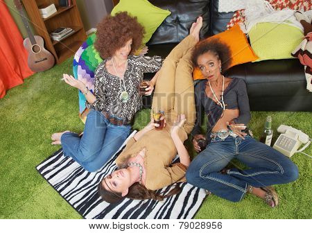 Drunk Women Gossiping