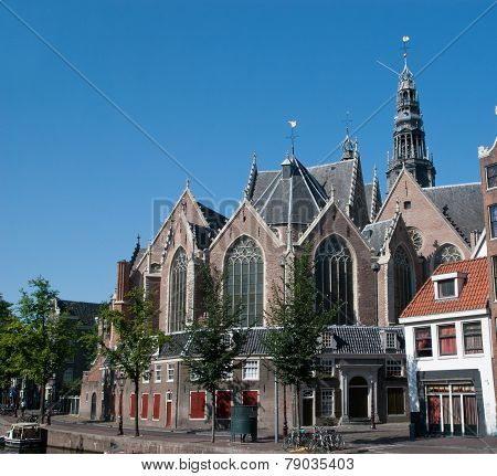 The Oude Kerk Church In Amsterdam ,netherland