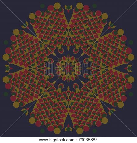 round vintage ornament vector illustration