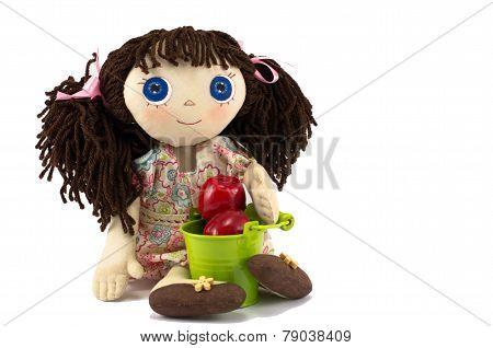 Rag doll with bucket