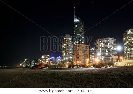 Gold Coast Skyline At Night.