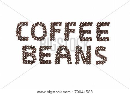 Coffee Beans Written With Coffee Beans