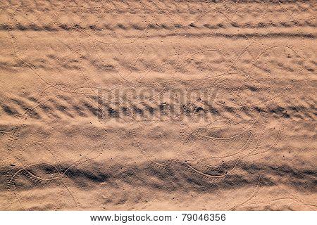 Tracks On Sand.