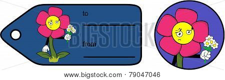 sad flower cartoon giftcard